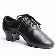 billiga Dansskor-Herr Moderna skor Läder Oxfordsko Bastant klack Dansskor Svart / Prestanda / Träning