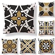 billige Putevar-6 stk Tekstil / Bomull / Lin Putevar, Geometrisk / Art Deco / Printer Kvadrat-formet / Moderne