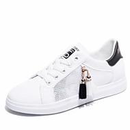 baratos Sapatos Femininos-Mulheres Sapatos Couro Ecológico Verão Conforto Tênis Sem Salto Ponta Redonda Mocassim Preto / Rosa claro