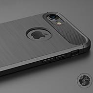tanie -Kılıf Na jabłko iPhone X / iPhone 6s Ultra cienkie Czarne etui Jendolity kolor Miękkie TPU na iPhone X / iPhone 8 Plus / iPhone 8