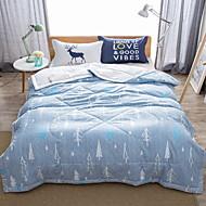 billiga Täcken och överkast-Bekväm - 1 st. Sängöverkast Sommar Mikrofiber Enfärgad / Geometrisk / Tecknat