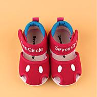 tanie Obuwie chłopięce-Dla chłopców / Dla dziewczynek Obuwie Tiul Lato Buty do nauki chodzenia Sandały na Brzdąc Jasnoczerwony / Różowy / Różowy / biały
