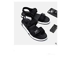 baratos Sapatos Masculinos-Homens Lycra / Náilon Verão Conforto Sandálias Preto