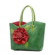 baratos Bolsas Tote-Mulheres Bolsas PU Tote Apliques / Flor Floral Vermelho / Roxo / Fúcsia