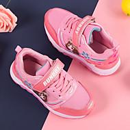 baratos Sapatos de Menina-Para Meninas Sapatos Couro Ecológico Verão Conforto / Sapatos para Daminhas de Honra Rasos Velcro para Infantil Bege / Roxo / Pêssego