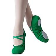 billige Utvalgte tilbud-Jente Ballettsko Lerret Flate Flat hæl Kan spesialtilpasses Dansesko Mørkegrønn / Innendørs / Trening