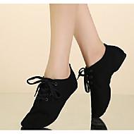billige Jazz-sko-Dame Jazz-sko Lerret Flate Flat hæl Dansesko Hvit / Svart / Rød / Ytelse / Trening