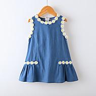 Djeca Djevojčice Jednobojni / Cvjetni print Bez rukávů Haljina