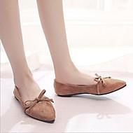 baratos Sapatos Femininos-Mulheres Sapatos Flocagem Primavera Verão Conforto Rasos Sem Salto Ponta Redonda Marron / Verde Tropa / Rosa claro