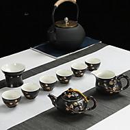 billige Kaffe og te-9pcs Porselen Tekannesett Varmebestandig ,  17*17*10;16*16*10;10*10*13;7*7*5cm