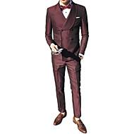 Χαμηλού Κόστους Ανδρική Μόδα & Ρούχα-Ανδρικά Στολές Μονόχρωμο Κλασικό Πέτο / Μακρυμάνικο