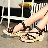 baratos Sapatos Femininos-Mulheres Sapatos Seda Verão Conforto Sandálias Salto Plataforma Branco / Preto / Amarelo / Calcanhares