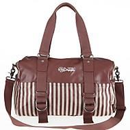 billige Rejsetasker-Læder Geometrisk Rejsetaske Perlearbejde for udendørs Forår sommer Chokolade / Kaffe