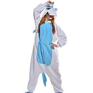 Voksne Kigurumi-pyjamas Unicorn Onesie-pyjamas Koralfleece Blå Cosplay Til Damer og Herrer Nattøj Med Dyr Tegneserie Halloween Festival / Højtider