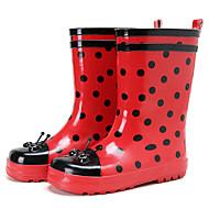 tanie Obuwie dziewczęce-Dla dziewczynek Obuwie Guma Wiosna lato Gumowce Buciki na Czerwony