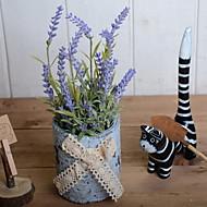 billige Kunstig Blomst-Kunstige blomster 1 Afdeling Rustikt Lyseblå Bordblomst