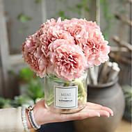 baratos Flores Artificiais-Flores artificiais 5 Ramo Casamento / buquês de Noiva Peônias / Flores eternas Flor de Mesa