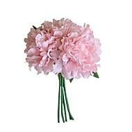 زهور اصطناعية 5 فرع Wedding Flowers النمط الرعوي الفاوانيا الزهور الخالدة أزهار الطاولة