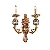 billige Vegglamper-ZHISHU Mini Stil Tiffany / Rustikk / Hytte Vegglamper Stue / Soverom / Spisestue Metall Vegglampe 110-120V / 220-240V 5W