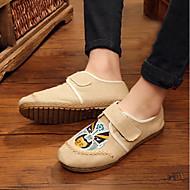 tanie Obuwie męskie-Męskie Komfortowe buty Płótno Jesień Mokasyny i buty wsuwane Beżowy / Niebieski