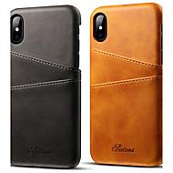 VORMOR Custodia Per Apple iPhone X / iPhone 7 Porta-carte di credito Per retro Tinta unita Resistente pelle sintetica per iPhone X / iPhone 8 / iPhone 7 Plus
