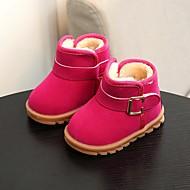baratos Sapatos de Menina-Para Meninas Sapatos Couro Ecológico Inverno Conforto / Coturnos Botas para Preto / Fúcsia / Marron / Botas Curtas / Ankle