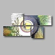 preiswerte -Hang-Ölgemälde Handgemalte - Abstrakt Landschaft Zeitgenössisch Segeltuch