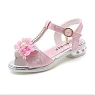 お買い得  女の子用靴-女の子 靴 エナメル 夏 フラワーガールシューズ サンダル フラワー のために シルバー / ピンク / ライトピンク