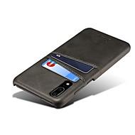 Custodia Per Huawei P20 / P20 Pro Porta-carte di credito / Nuovo design Per retro Tinta unita Resistente pelle sintetica per Huawei P20 / Huawei P20 Pro