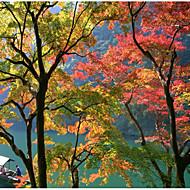 billige Veggdekor-Hage Tema Landskap Veggdekor polyester Moderne Tradisjonell Veggkunst, Veggtepper Dekorasjon