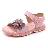 baratos Sapatos de Menina-Para Meninas Sapatos Couro Sintético Verão Conforto Sandálias Caminhada Presilha / Flor para Bébé / Bebê Branco / Rosa claro