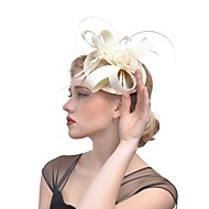 Flax / Feathers Headwear with Feather / Satin Bow 1 pc Wedding / Party / Evening Headpiece