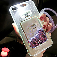 cheap -Case For Apple iPhone 6s / iPhone 5 Case Flowing Liquid / LED Flash Lighting Back Cover Glitter Shine Hard TPU for iPhone 8 Plus / iPhone