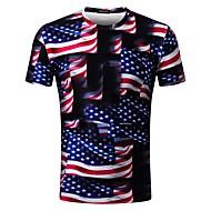 Herre - Farveblok Trykt mønster Basale T-shirt