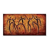 Hang-Boyalı Yağlıboya Resim El-Boyalı - Soyut Çağdaş Modern Iç çerçeve dahil / Gerilmiş kanvas