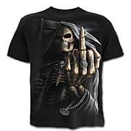 Χαμηλού Κόστους -Ανδρικά T-shirt Κρανίο Εξωγκωμένος Συνδυασμός Χρωμάτων Πορτραίτο Νεκροκεφαλές Στάμπα