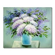 billiga Oljemålningar-Hang målad oljemålning HANDMÅLAD - Abstrakt / Blommig / Botanisk Samtida / Moderna Duk