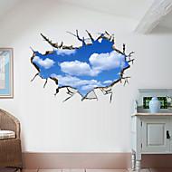 Ozdobné samolepky na zeď - 3D samolepky na zeď Krajina 3D Obývací pokoj Ložnice Koupelna Kuchyň Jídelna studovna či kancelář