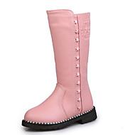 baratos Sapatos de Menina-Para Meninas Sapatos Courino Inverno Botas de Neve Botas Ziper para Preto / Vermelho / Rosa claro