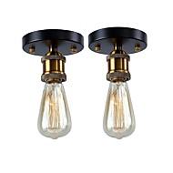 billige Taklamper-2 stk vintage loft mini metall taklampe flush mount hallway spisestue soverom kjøkken antikke lampe