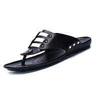 Muškarci Cipele Sintetika, mikrofibra, PU Umjetna koža Ljeto Udobne cipele Papuče i japanke Obala Crn Braon