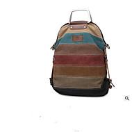 baratos Mochilas-Mulheres Bolsas Tela de pintura mochila Ziper Arco-íris