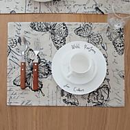 billige Kuvertbrikker-Moderne PVC Kvadrat Bordskånere Geometrisk Borddekorasjoner 1 pcs