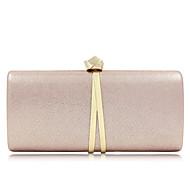 billige Designer Evening Bags-Dame Poser Terylene / Legering Aftenveske Knapper Svart / Rosa / Mørkegrå