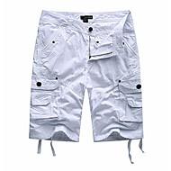 Herre Militær Shorts Bukser Ensfarvet