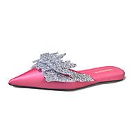 Χαμηλού Κόστους Γυναικεία Τσόκαρα & Μιουλ-Γυναικεία Παπούτσια PU Καλοκαίρι Ανατομικό Σαμπό & Mules Περπάτημα Επίπεδο Τακούνι Μυτερή Μύτη Αστραφτερό Γκλίτερ Μαύρο / Φούξια