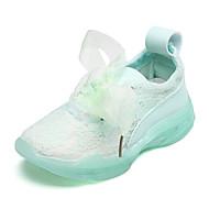 baratos Sapatos de Menina-Para Meninas Sapatos Renda / Tecido elástico Primavera & Outono / Verão Conforto Tênis Cadarço para Infantil Amarelo / Rosa claro / Verde Claro