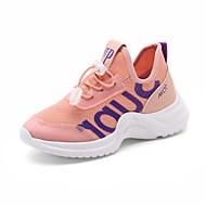 baratos Sapatos de Menina-Para Meninas Sapatos Tule / Couro Ecológico Primavera Verão Conforto Tênis Caminhada para Adolescente Branco / Preto / Rosa claro