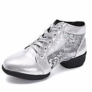 billige Dansesneakers-Dame Dansesko Syntetisk Joggesko Kubansk hæl Dansesko Gull / Svart / Sølv / Ytelse / Trening