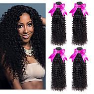 4 svazky Peruánské vlasy Kudrny 8A Přírodní vlasy Lidské vlasy Vazby Prodloužení 8-28 inch Černá Přírodní barva Lidské vlasy Vazby Nejlepší kvalita Nový přírůstek curling Rozšíření lidský vlas Dámské